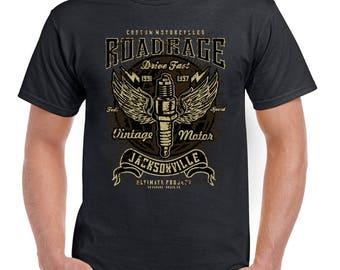 Road Rage Jacksonville Mens Biker T-Shirt Motorcycle Motorbike Indian Harley 2349