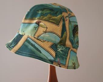 Child Camper Hat, Fishing hat, Sun hat, Cottage hat, Size 2 T - 5T