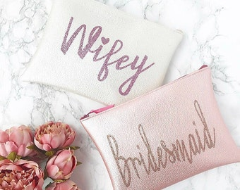 Faux Leather Personalised Bridal/ Bridesmaid Wedding Bag