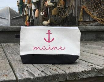 Nautical Maine Cosmetic/Travel/Organizer Case
