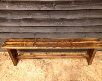 Rustic wooden bench - handmade from lovely reclaimed timber. Ready for immediate dispatch.