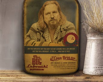 The big Lebowski, The Dude, Wooden hanging frame