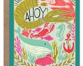 Ahoy Nautical Card   Just Because Card   Mermaid Card   Whale Card   Under the Sea   Lobster   New England