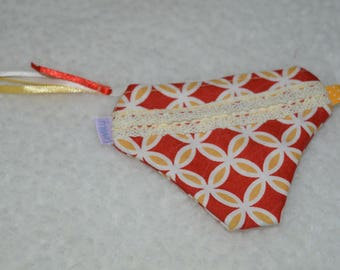 Handmade Coin Purse - Knickers Shaped - Red and Yellow Print