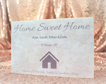 s-15 personalised new home gift family names house warming home sweet home plaque present sign
