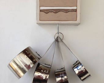 Coffee cake key hook canvas