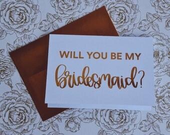 Will You be My Bridesmaid Card Bridesmaid Proposal Card Will You Be My Bridesmaid Gift