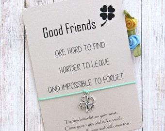 Wish Bracelet, Best Friend gift Bracelet Gift, Friendship Bracelet, Friendship Gifts, Charm Bracelet, Friendship Jewelry, Bff Gifts.