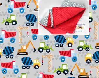 Construction Trucks Blanket Cars Toddler Bedding Tractor Crib Blanket Cotton Minky Blanket Girl Crib Bedding Truck Crib Bedding Toddler