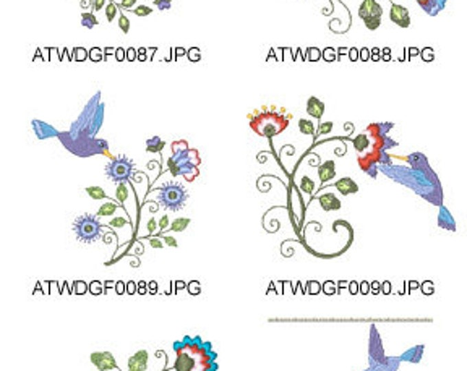 Spring-Hummingbirds ( 10 Machine Embroidery Designs from ATW ) XYZ17F
