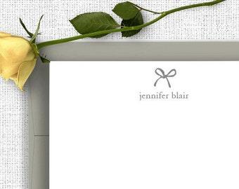 Personalized Stationery, Bow, Stationary Set, Personalized Note Cards, Thank You Note Cards,  Stationery Set, Custom Stationery CS01