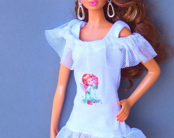 Barbie clothes - Barbie nightdress, Barbie dress, Barbie lingerie