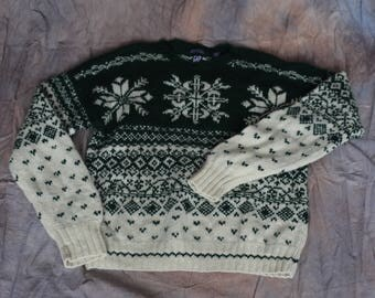 Green Gap Knit by Hand Sweater