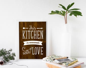 Moms Kitchen Sign, Kitchen Sign, Kitchen Wall Art, Sign For Mom, Sign With Quotes, Framed Chalkboard, kitchen signage, wood kitchen signs