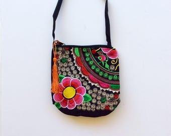 Boho handbag,Bohemian bag,Boho bag,Hippie bag,beach bag,shoulder bag,embroidered bag,colorful bag,boho chick, boho chick handbag,hippiechick