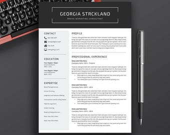 resume template cv template cover letter application