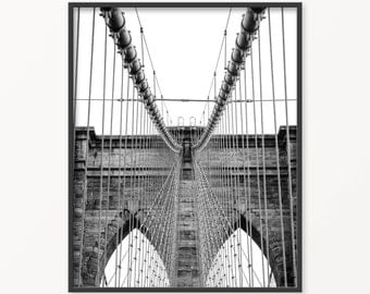 Brooklyn Bridge • New York City • landscape printable • Cityscape • Maps and Cities • New York City • Skyline Print • Brooklyn Landscape