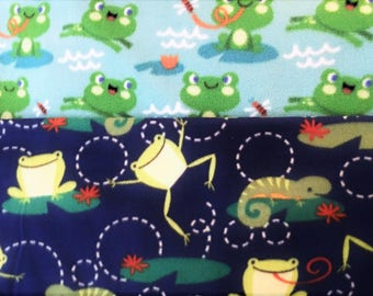 LeapN lil LiZardS! handmade fleece blanket designed by JAX. This Reptile Theme throw has 2 pattern combos for U2 create ur ideal design with