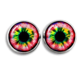Fantasy Eyes Stud Earrings Eyes 12mm Stud Earrings Fantasy Earrings