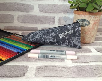 Harry Potter triangle pencil case, Harry potter gift, Gift for her, back to school, marauders map pencil case, unique pencil case