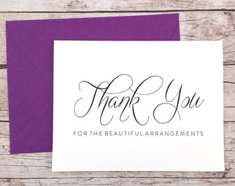 Thank You for the Beautiful Arrangements Card, Florist Thank You Card, Wedding Vendor Thank You - (FPS0058)