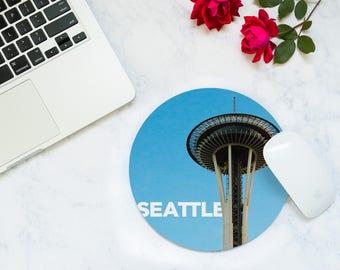 Seattle Mousepad - Christmas Traveler - Tech Accessories - Desk Accessories Men - Going Away Gift - Travel Office Decor - New Job Gift