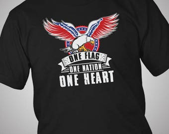 One Flag One Nation America Eagle Independence Day 4th July T-Shirt