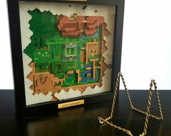Zelda A link to the past map wall art
