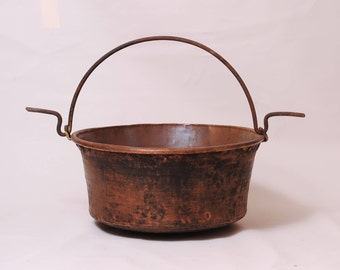 copper cauldron large antique french Witch's cauldron