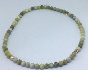 Green Bead Wrap Bracelet