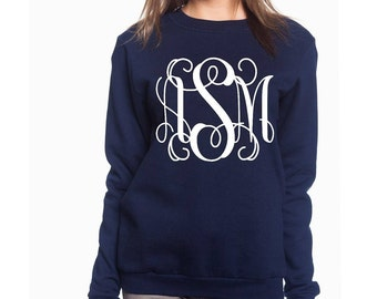 Sweatshirt With Fancy Initials