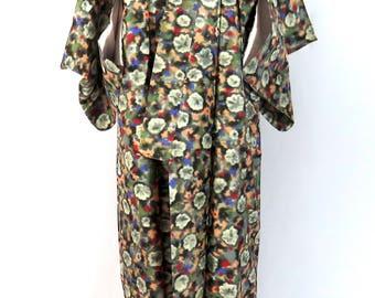 Vintage Japanese Kimono / Oshima