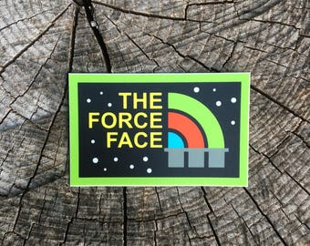 The Force Face Sticker - Star Wars