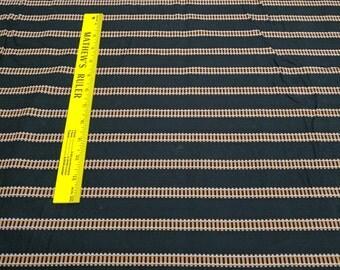 Railroad Tracks on Black Cotton Fabric
