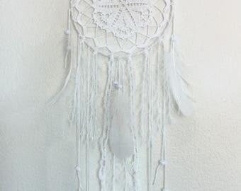 White Dream Catcher, Crochet Dream Catcher, Airy Dream Catcher, Romantic Decor, Home Bedroom Decor, Baby Shower Decor