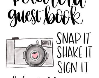 Polaroid Guest Book Printable