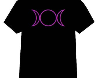 Triple Moon Goddess tshirt, Wiccan shirt, Pentacle shirt, Triple Moon Goddess, Wicca, Wiccan Clothing, Witch shirt, Witchcraft shirt, Pagan