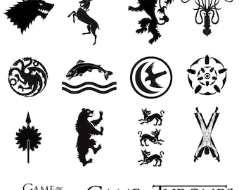 Game of Thrones Sigils/Logos | SVG/PNG/EPS/ Files | Stark | Baratheon | Lannister | Greyjoy | Targaryen | Personal/Commercial Use
