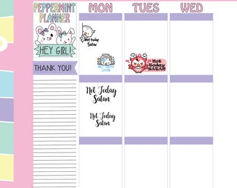 Not today Satan Planner Stickers -- #268