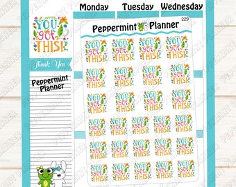 You Got This motivational --- planner stickers  --- 229