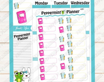 Paper, Pencil, Notebook School Planner Stickers -- Tracking -- 426