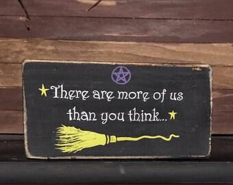 Witch sign-Witch wood sign-Witch decor-Witch decoration-Wiccan-Wicca-Halloween sign-Halloween wood sign-Halloween decoration-Salem witch