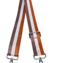 38mm Adjustable Nylon Stripe Shoulder Strap Crossbody Webbing Buckles DIY Handbag Tote Bag Messengers Travel Bag Handle Replacement