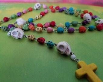 Catholic Skull Rosary Prayer Beads
