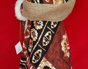 Hawaiian Santa - Tapa fabric