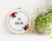 Floral Embroidery Kit, Mo...