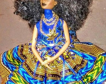 Blue Nile ooak AA barbie doll