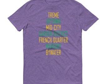 New Orleans Shirt, Neighborhood, Neighborhoods TShirt, Christmas Gift, Gift for Him, Gift for Her, Garden District, French Quarter, Treme