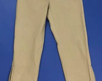 Marella used beige capri pants capri short skinny woman T2164 tafida W28
