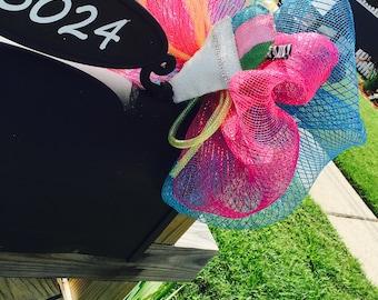Summer bow,mailbox bow,deco mesh bow,deco mesh snow cone
